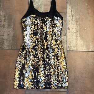 Sequin mini dress/tunic with lining
